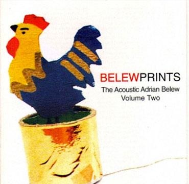 Belew Prints The Acoustic Adrian Belew Volume 2 CD Cover