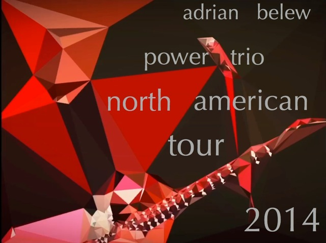 Adrian Belew Power Trio North American tour 2014 Cd cover
