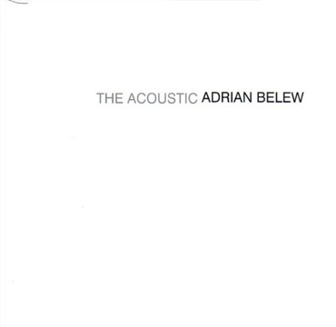 The Acoustic Adrian Belew Cd Cover